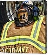Fireman Turnout Gear Lieutenant Acrylic Print