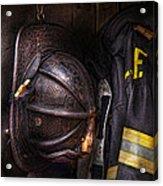 Fireman - Worn And Used Acrylic Print