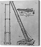 Fireman's Hydraulic Lift Patent Drawing Acrylic Print