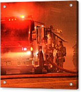 Firemen At Work Acrylic Print
