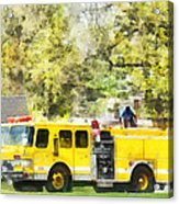 Firemen - Back At The Firehouse Acrylic Print