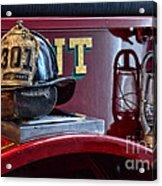 Firemen - Fire Helmet Lieutenant Acrylic Print