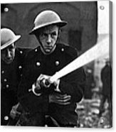 Firemen Training In A Combined War Acrylic Print