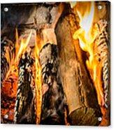Fireplace II Acrylic Print