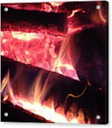 Fireside - Close-up Acrylic Print