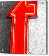 Firestone Building Red Neon T Acrylic Print