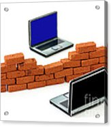 Firewall Protection For Laptops Acrylic Print