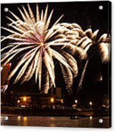 Firework Explosions Acrylic Print