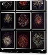 Fireworks - Black Background Acrylic Print