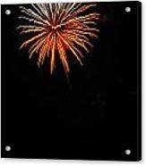 Fireworks - White And Orange Acrylic Print