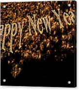 Fireworks 2013 In Elegant Gold And Black Acrylic Print