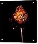 Fireworks 4th Of July Avon Pier Hatteras Island 3 Acrylic Print