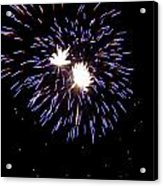 Fireworks 7 Acrylic Print by Mark Malitz