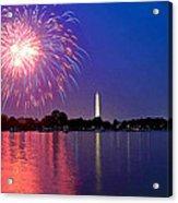Fireworks Across The Potomac Acrylic Print