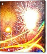 Fireworks As A Painting Acrylic Print