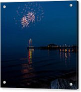 Fireworks At Clacton Acrylic Print