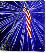 Fireworks At Iwo Jima Memorial Acrylic Print by Francesa Miller