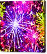 Fireworks At Night 7 Acrylic Print