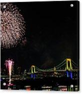 Fireworks At Rainbow Bridge Acrylic Print