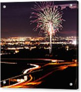 Fireworks At Sugarhouse Park Acrylic Print