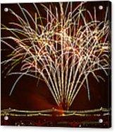 Fireworks At Tempe Town Lake  Acrylic Print by Saija  Lehtonen
