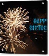 Fireworks Birthday Acrylic Print