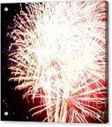 Fireworks By Angela Acrylic Print by Angelia Hodges Clay