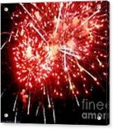 Fireworks Display At Niagara Falls Acrylic Print