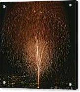Fireworks Display Over Lake Union  Acrylic Print