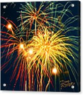 Fireworks Finale Acrylic Print by Doug Kreuger