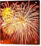 Fireworks Flower Acrylic Print by Robert Hebert
