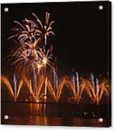 Fireworks Fountain Acrylic Print