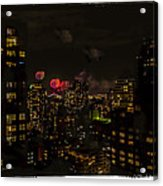Fireworks From My Window 1 - Manhattan Acrylic Print