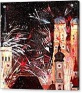 Fireworks In Munich Acrylic Print