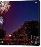 Fireworks In St. Charles Acrylic Print by Cindy Tiefenbrunn