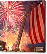 Fireworks Acrylic Print by Jim DeLillo
