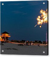 Fireworks On Ther Beach Acrylic Print