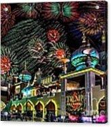 Fireworks Over Atlantic City Acrylic Print