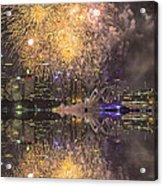 Fireworks Over Sydney Opera House Acrylic Print