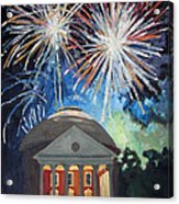 Fireworks Over The Rotunda Acrylic Print