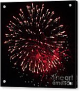 Fireworks Series Ix Acrylic Print by Suzanne Gaff