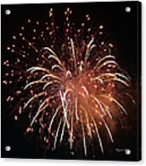 Fireworks Series Xv Acrylic Print by Suzanne Gaff