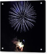Fireworks Shell Burst Over The St Petersburg Pier Acrylic Print