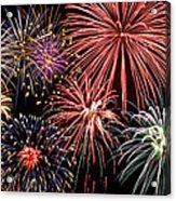 Fireworks Spectacular IIi Acrylic Print by Ricky Barnard