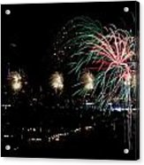 Fireworks Acrylic Print by Stanlerd Rodriguez