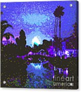 Fireworks Venice California Acrylic Print by Jerome Stumphauzer