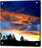 Firey Sunset Of Angel Fire Acrylic Print