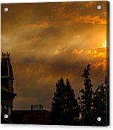 Firey Sunset Over Grants Pass Acrylic Print