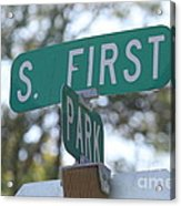 First And Park Acrylic Print
