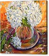 First Bouquet Acrylic Print by Barbara Pirkle